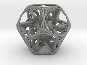 Organic Dodecahedron star nest in Gray PA12