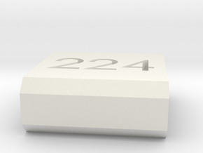 Caliber Marker - Picatinny - 224 Valkyre in White Natural Versatile Plastic