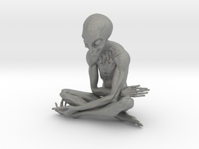 25cm ET alien sculpture in Gray Professional Plastic: Extra Large