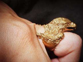 Magnificent Eagle Ring in Natural Brass: 5 / 49