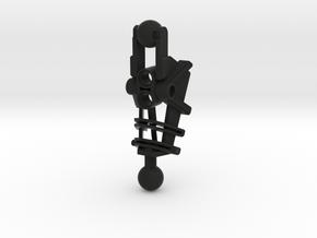 Custom Bionicle Lower Leg 2 in Black Natural Versatile Plastic