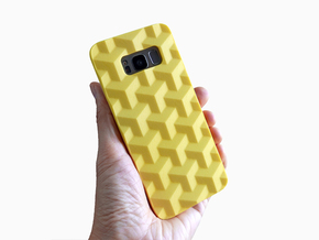 Samsung Galaxy S8 case_Cube in Yellow Processed Versatile Plastic