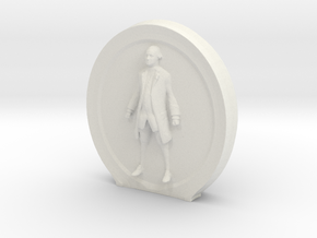 Cosmiton M George Washington - 40 mm in White Natural Versatile Plastic
