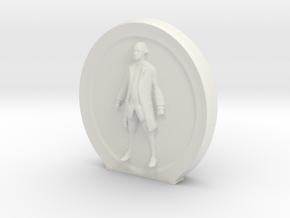 Cosmiton Fashion M - George Washington - 40 mm in White Natural Versatile Plastic