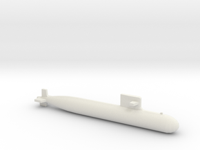 PLA[N] 093A Submarine, Full Hull, 1/1800 in White Natural Versatile Plastic
