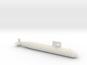 PLA[N] 093 Submarine, Full Hull, 1/1800 in White Natural Versatile Plastic