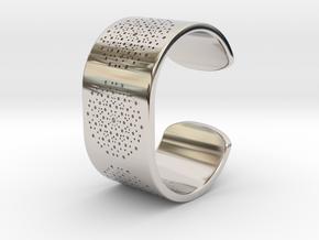 Quasicrystals Diffraction Pattern Bracelet in Platinum