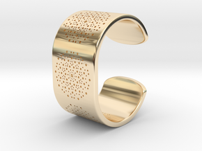 Quasicrystals Diffraction Pattern Bracelet in 14k Gold Plated Brass