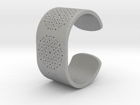 Quasicrystals Diffraction Pattern Bracelet in Aluminum