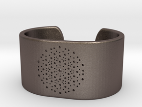 Quasicrystals Diffraction Pattern Bracelet - simpl in Polished Bronzed-Silver Steel
