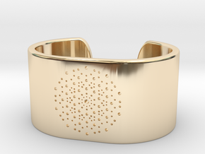 Quasicrystals Diffraction Pattern Bracelet - simpl in 14K Yellow Gold