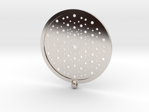 Quasicrystals Diffraction Pattern Pendant in Rhodium Plated Brass