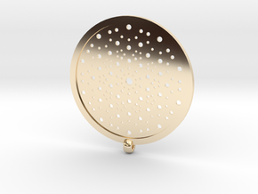 Quasicrystals Diffraction Pattern Pendant in 14k Gold Plated Brass
