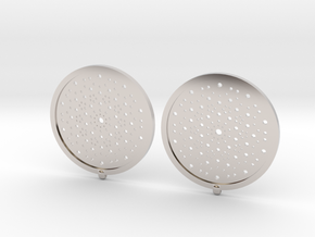 Quasicrystals Diffraction Pattern Pendant - earrin in Rhodium Plated Brass