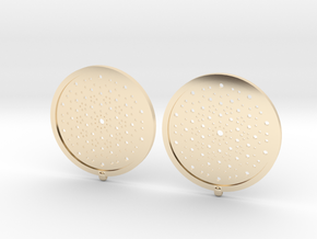 Quasicrystals Diffraction Pattern Pendant - earrin in 14K Yellow Gold