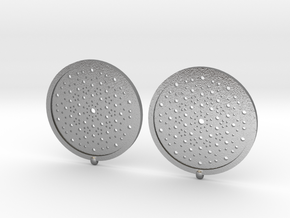 Quasicrystals Diffraction Pattern Pendant - earrin in Natural Silver