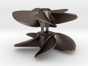 ASD 2810 MKI - Propeller (2 pcs) in Polished Bronzed Silver Steel