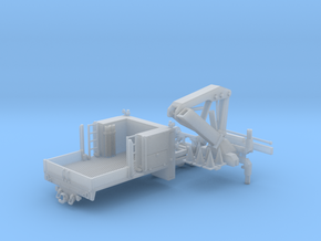 MOW Service Truck With Crane 1-87 HO Scale in Smooth Fine Detail Plastic