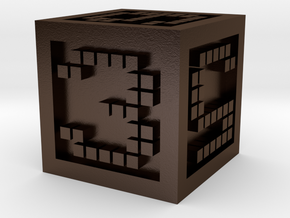 D6 Block in Polished Bronze Steel