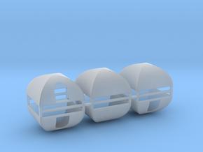 Zelte 6er Set B - 1:120 TT in Smooth Fine Detail Plastic