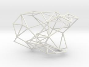 Node bangle in White Natural Versatile Plastic: Large