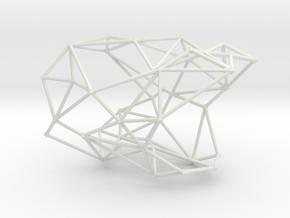 Node bangle in White Premium Versatile Plastic: Small