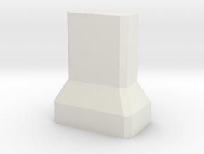 Motorway 2 Pillar 1:1000 scale in White Natural Versatile Plastic