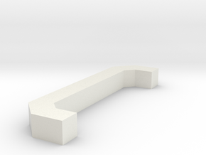 Motorway 3 Pillar custom scale in White Natural Versatile Plastic