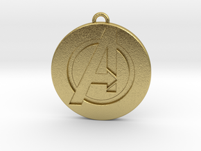 Keychain - Necklace - Avengers in Natural Brass