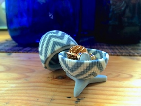 Egg Jewelry Box: Chevron in Full Color Sandstone