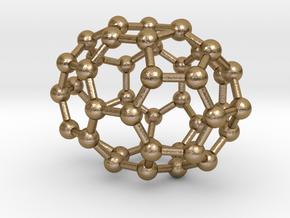 0667 Fullerene c44-39 c2v in Polished Gold Steel