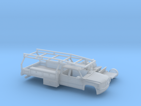 1/87 1999-02 Chevy Silverado EXTCab Contractor Kit in Smooth Fine Detail Plastic