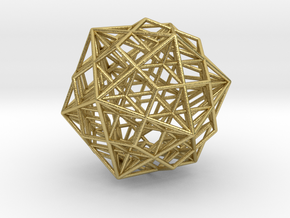 Great Dodecahedron / Dodecahedron Compound in Natural Brass