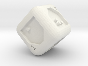 d6 in White Natural Versatile Plastic