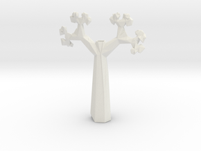 Vase 1420Tr in White Natural Versatile Plastic