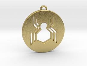 Keychain - Necklace - Spiderman in Natural Brass