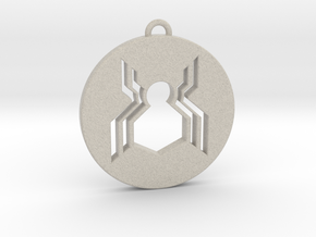 Keychain - Necklace - Spiderman in Natural Sandstone