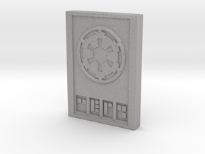 Star wars Sabacc Imperial credit chip in Aluminum