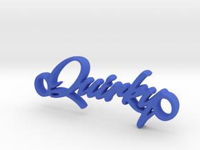 Quirky Pendant - Vivid Colors in Blue Processed Versatile Plastic