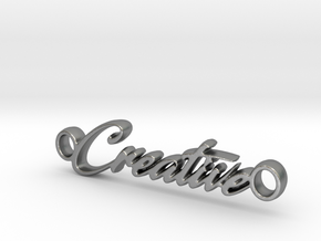 Creative Pendant - Metal in Natural Silver