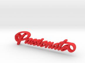 Passionate Pendant - Vivid Colors in Red Processed Versatile Plastic