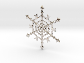 Snowflake in Rhodium Plated Brass
