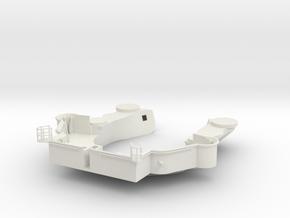 1/72 Yamatosuperstructures part9 (Signal Deck) in White Natural Versatile Plastic
