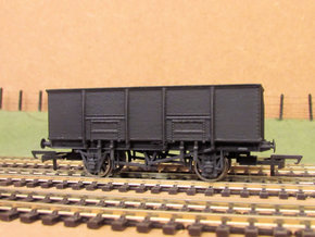 00 GWR N34 Steel Bodied 21t Loco Coal Wagon in White Natural Versatile Plastic