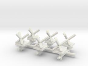 Czech Hedgehog x6  in White Natural Versatile Plastic