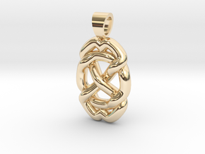 Celtic knot circle in 14k Gold Plated Brass