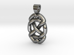 Celtic knot circle in Polished Silver