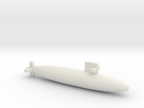 Uzushio-class submarine, Full Hull, 1/2400 in White Natural Versatile Plastic