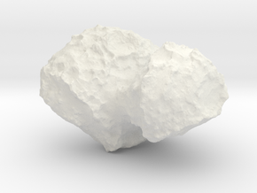 Comet 67P/C-G 1:100,000 scale in White Natural Versatile Plastic
