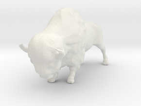 S Scale Bison in White Natural Versatile Plastic
